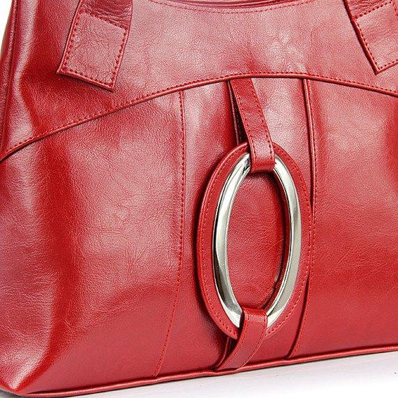 DAN-A T8 czerwona torebka skórzana damska
