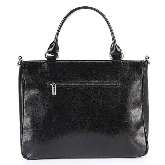 DAN-A T88 czarna torebka skórzana damska kuferek