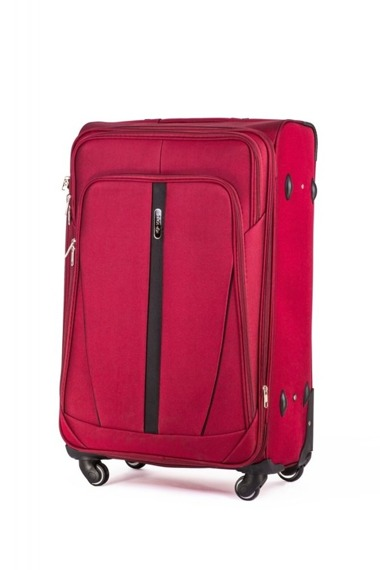 Duża walizka miękka L Solier STL1706 czerwona