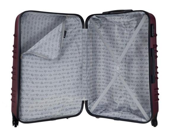 Duża walizka podróżna STL838 burgundowa