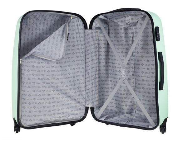 Duża walizka podróżna STL856 miętowa