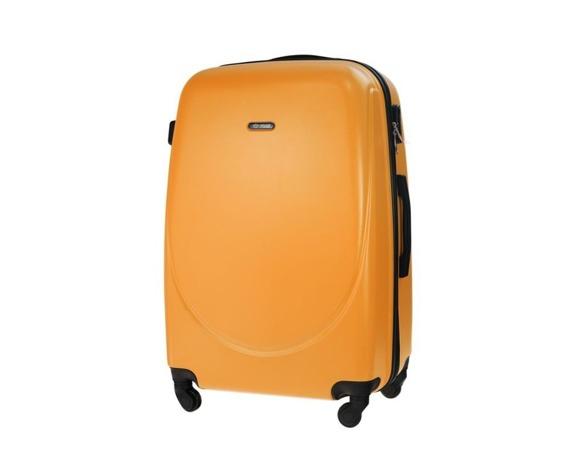 Duża walizka podróżna STL856 pomarańczowa