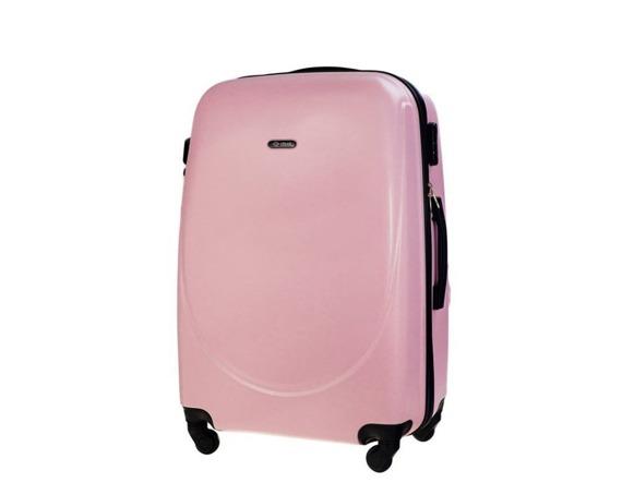 Duża walizka podróżna STL856 różowa