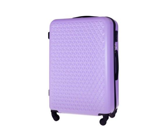 Duża walizka podróżna STL870 fioletowa