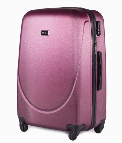 Duża walizka podróżna na kółkach SOLIER STL310 L ABS burgundowa