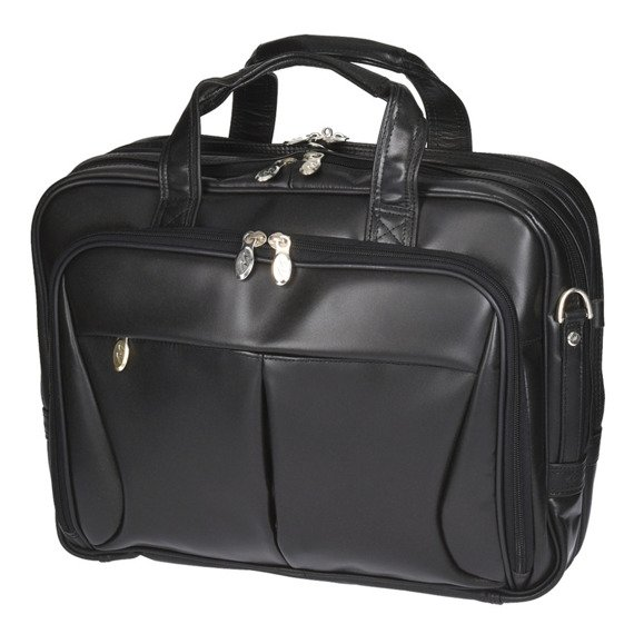"""Ekskluzywna torba skórzana biznesowa na laptopa 15,4"""" Mcklein Pearson 84565"""