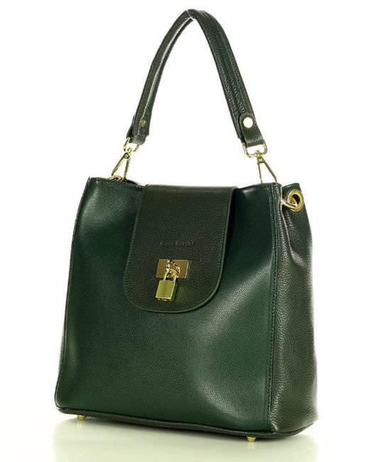 Elegancka shopperka MARCO MAZZINI c. zielony s269c