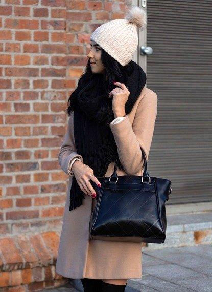 Elegancki kuferek ze skóry naturalnej DAN-A T255 camel