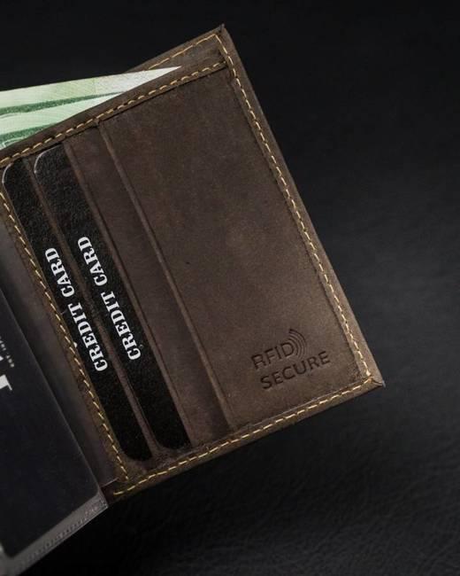 Etui na karty brązowe Badura TW-01-MH-BA BROWN