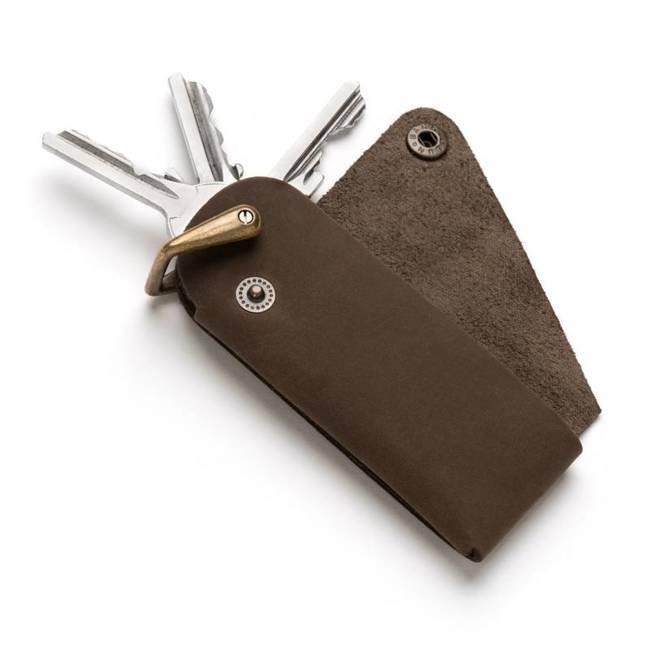Etui na klucze brelok BR02 c. brązowy