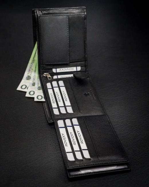 Klasyczny portfel męski czarny N992-GOT BLACK