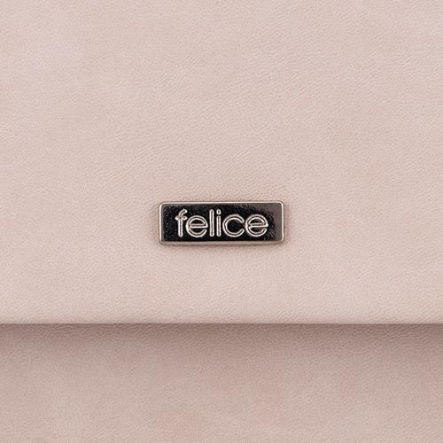 Kopertówka damska Felice F13 MAT pudrowy róż