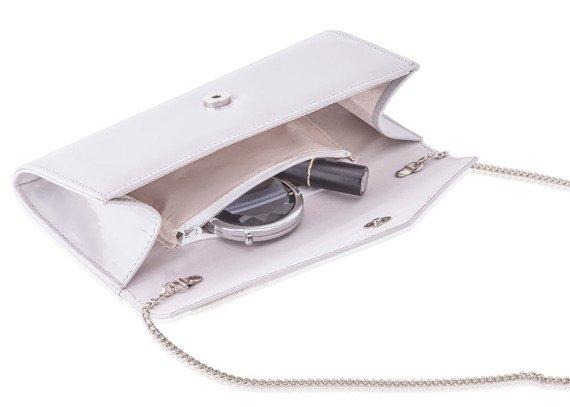 Kopertówka damska z łańcuszkiem Felice F18 szara