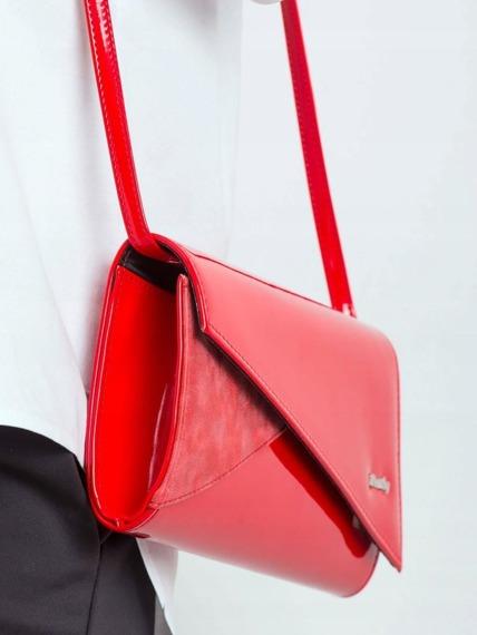 Kopertówka wizytowa lakierowana Rovicky W65 czerwona