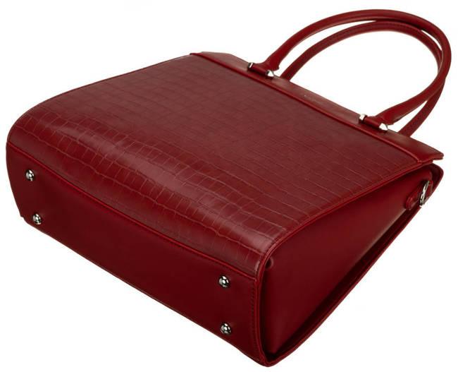 Kuferek bordowy David Jones CH21025 DARK RED