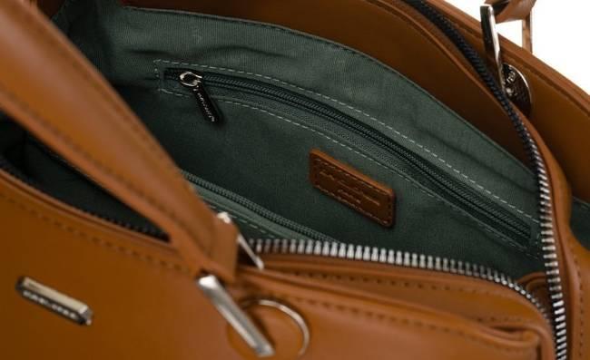 Kuferek damski koniakowy David Jones CM6001 COGNAC