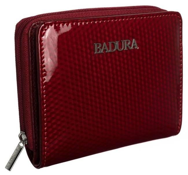 Kwadratowa portmonetka damska czerwona Badura  B-41375P-SBR