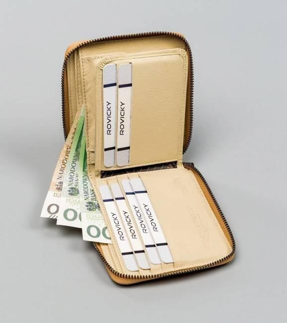 Kwadratowy portfel damski złoty Lorenti  398902-SH-2913 CHAMP