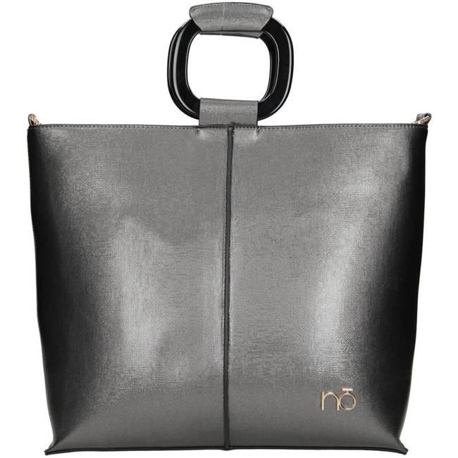 Kwadratowy shopper srebrny Nobo NBAG-J4440-C025