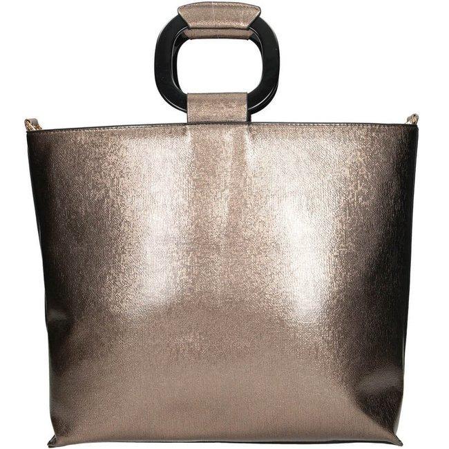 Kwadratowy shopper złoty Nobo NBAG-J4440-C023