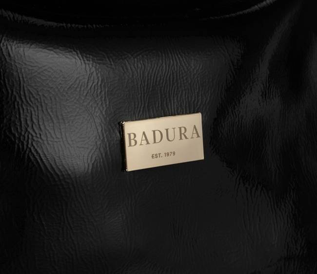 Lakierowana shopperka czarna Badura T_D149CZ_CD