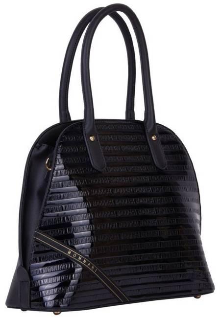 Lakierowany kuferek czarny Monnari BAG1750-M20