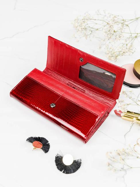 Lakierowany portfel czerwony Lorenti 72401-RS-1220 RED