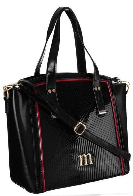 Lakierowany shopper czarny Monnari BAG2300-020