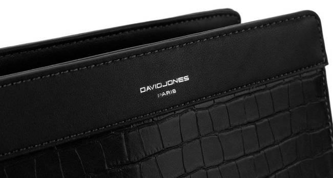 Listonoszka czarna croco David Jones  CH21024 BLACK