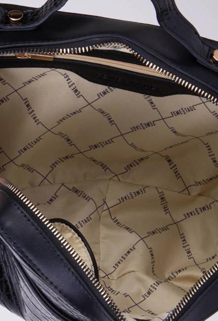 Listonoszka czarna lakierowana wąż FemeStage BAG2390-020
