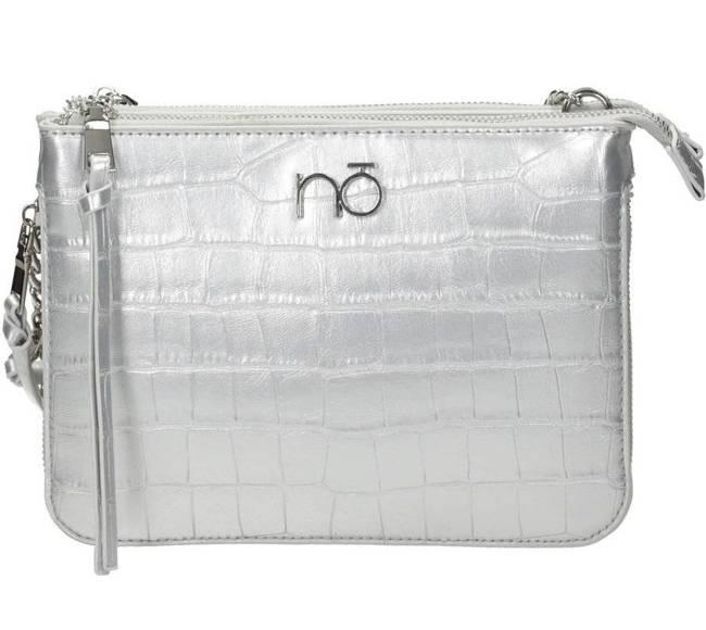 Listonoszka damska metaliczna srebrna  Nobo NBAG-K4290-C022