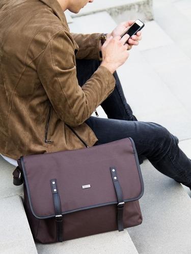 Listonoszka męska torba na ramię S17 KNOCK brązowa