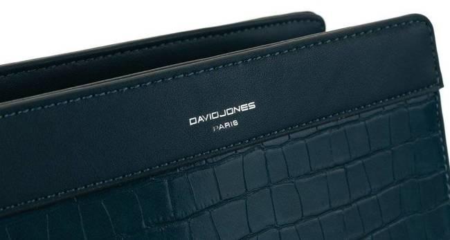 Listonoszka niebieska croco David Jones CH21024 PEACOCK BLUE