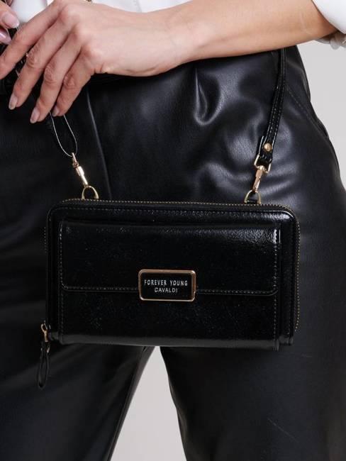 Listonoszka portfel 2w1 Cavaldi czarny SF1817-ML-8421 BLACK