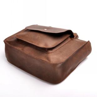MADE IN ITALY Mano 168 czekoladowa włoska torebka skórzana kuferek