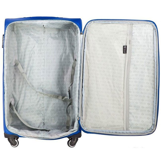 Mała podręczna walizka miękka S Solier STL1706 jasnoniebieska