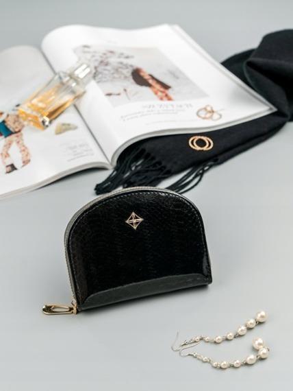 Mała portmonetka damska na zamek czarna Milano Design