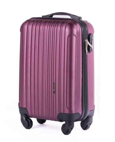 Mała walizka podróżna na kółkach (bagaż podręczny) SOLIER STL2011 ABS bordowa
