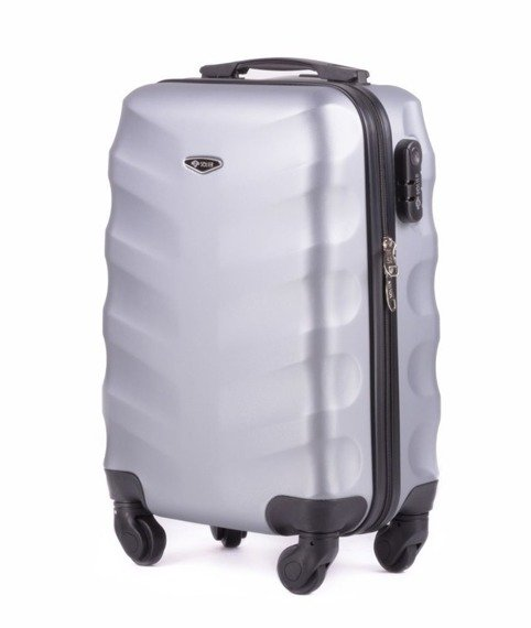 Mała walizka podróżna na kółkach SOLIER STL402 ABS XS srebrna