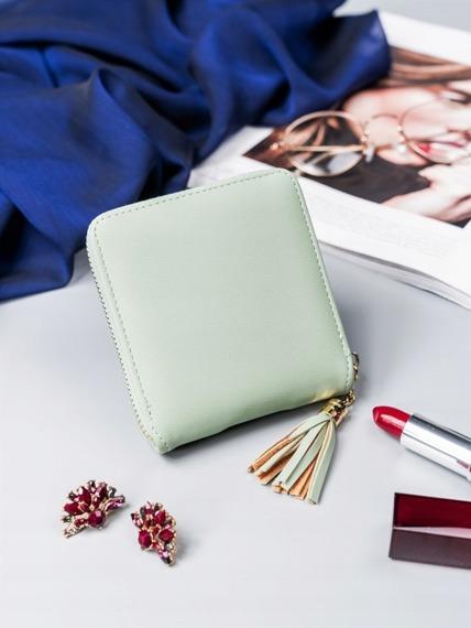 Mały portfel damski Milano Design zielony