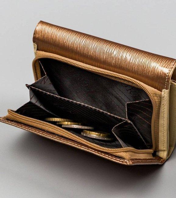 Mały portfel damski złoty Lorenti 398901-SH-2906 CHAMP