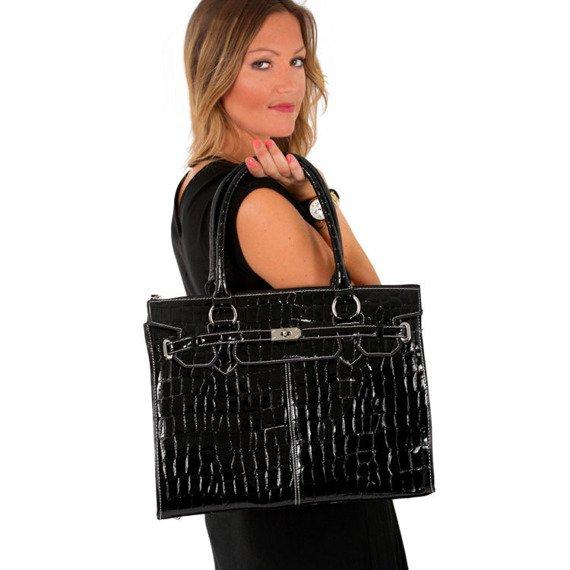 "Mcklein Francesca 1110 torba damska na laptopa 14.1"" faktura krokodyla"