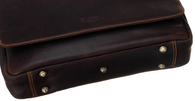 Męska torba listonoszka koniak Badura  LAP-8173-B-COM COGNA