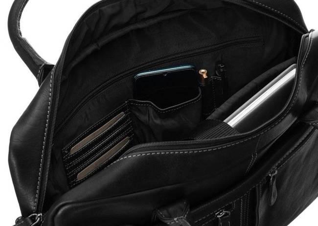 Męska torba na laptopa czarna Badura LAP-2381-B-COM
