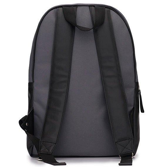 Męski plecak miejski na laptopa Solier SR01 FORRES szaro-czarny