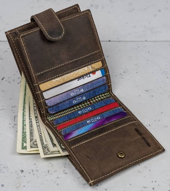 Męski portfel brązowy Buffalo Wild RM-01L-HBW BROWN