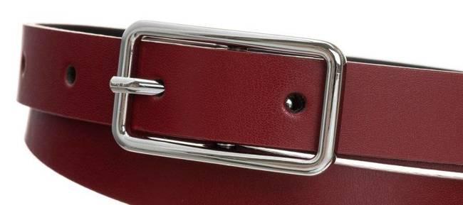 Pasek damski czerwony PD-NL-2-105