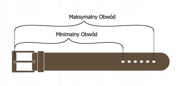 Pasek damski skórzany Rovicky PDR-4 brązowy