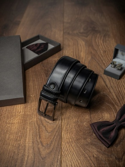 Pasek męski Rovicky PSN-01-SO 115cm czarny