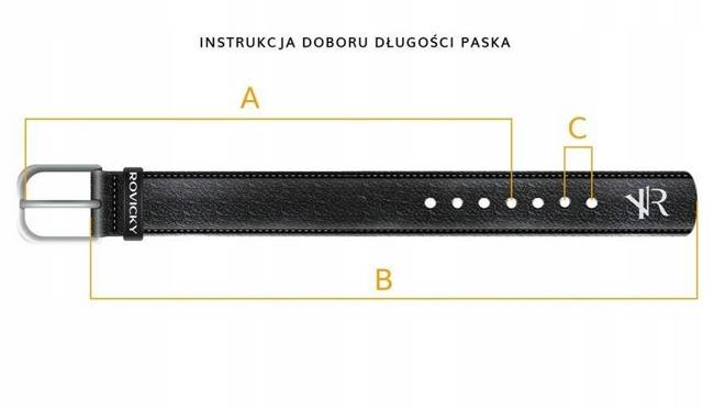 Pasek męski czarny PNJ-06-C 105